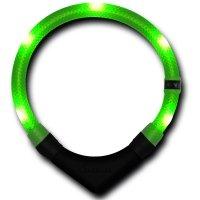 Collier lumineux pour chien LEUCHTIE Premium vert fluo