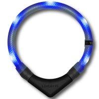 Collier lumineux pour chien LEUCHTIE Premium bleu transparent