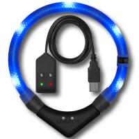 Collier lumineux pour chien LEUCHTIE Premium Easy Charge bleu