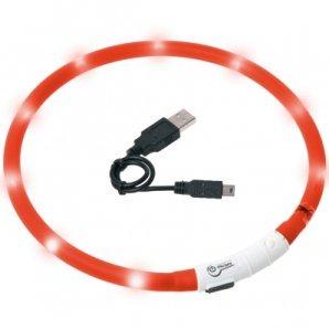 Collier lumineux pour chien LED rouge