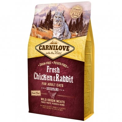 Croquettes chat CARNILOVE Adult Gourmand Fresh Chicken & Rabbit