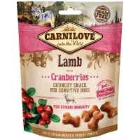 Biscuits pour chien Carnilove Crunchy Snack Lamb & Cranberries