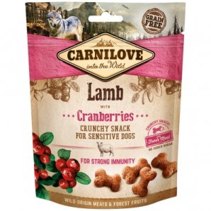 Biscuits pour chien Carnilove Crunchy Snack Lamb & Cranberries