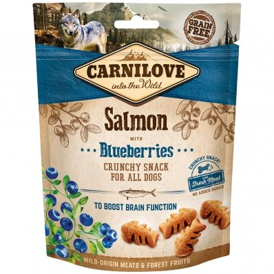 Biscuits pour chien Carnilove Crunchy Snack Salmon & Blueberries