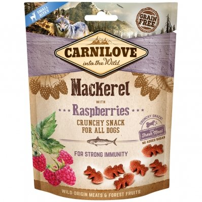 Biscuits pour chien Carnilove Crunchy Snack Mackerel & Raspberries