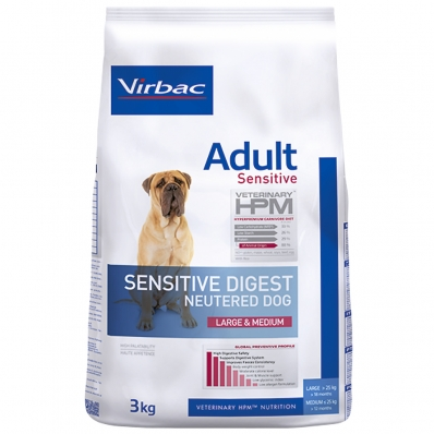 Virbac Veterinary HPM Adult Dog Neutered Sensitive Digest Large & Medium