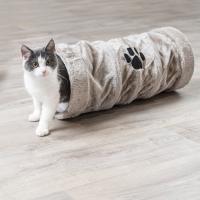 Tunnel de jeu pour chat Trixie gris