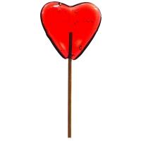 Sucettes grand cœur rouge