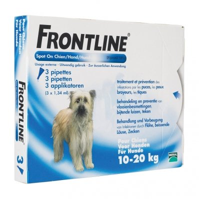 Frontline Spot-On chiens de 10 kg à 20 kg