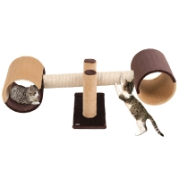 Griffoir pour chat Rocket marron et beige