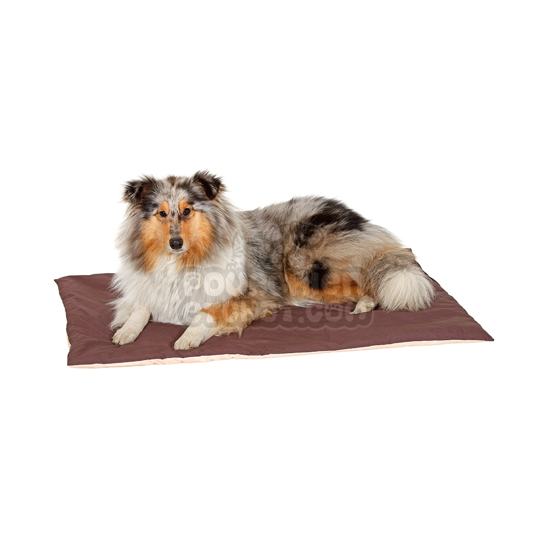 tapis pour chien doc bed marron et beige. Black Bedroom Furniture Sets. Home Design Ideas