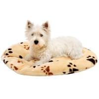Coussin pour chien ovale TRACK beige
