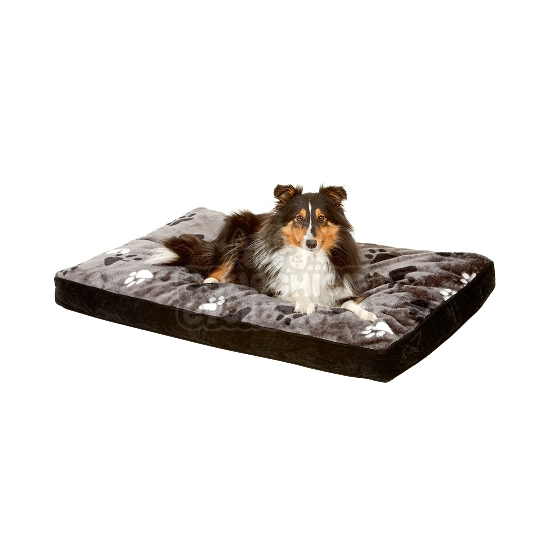 coussin pour chien rectangulaire track gris. Black Bedroom Furniture Sets. Home Design Ideas
