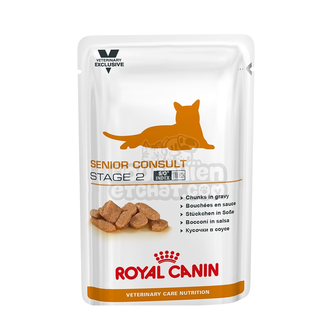 sachets repas royal canin veterinary diet chat senior consult stage 2. Black Bedroom Furniture Sets. Home Design Ideas