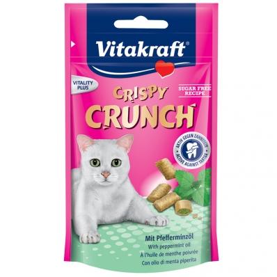 Friandises pour chat Vitakraft Crispy Crunch à l'huile de menthe poivrée