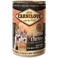 Boites chien CARNILOVE Puppy Salmon & Turkey