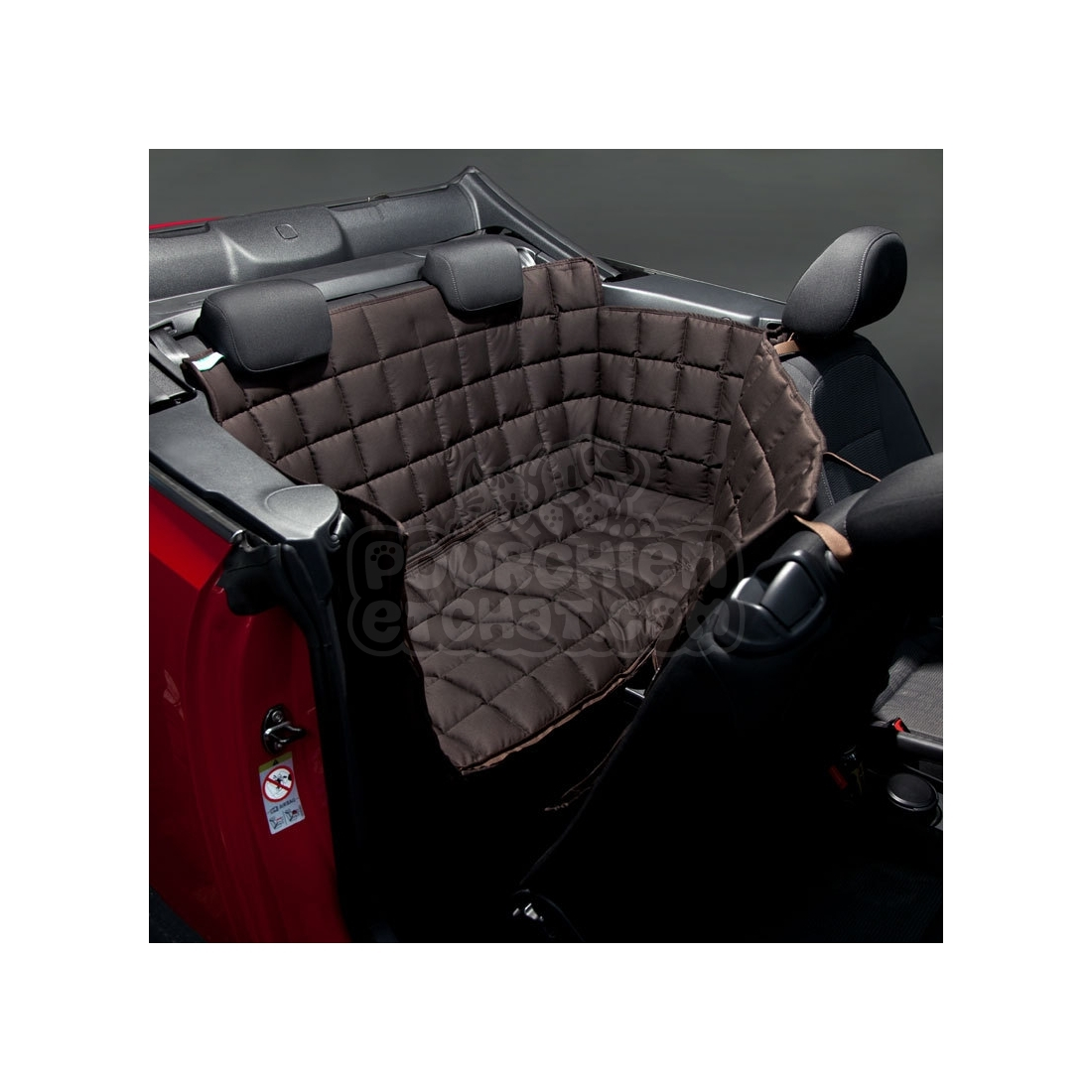 couverture de protection banquette arri re pour voiture 2 portes doctor bark marron. Black Bedroom Furniture Sets. Home Design Ideas