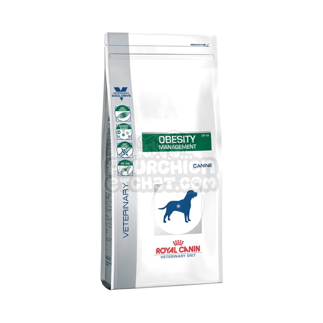 royal canin veterinary diet chien obesity management dp 34. Black Bedroom Furniture Sets. Home Design Ideas
