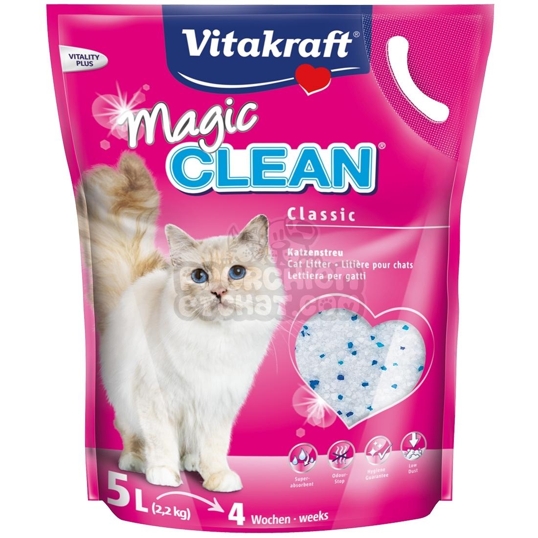 Litière pour chat Vitakraft Magic Clean - pourchienetchat.com