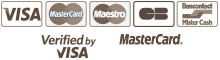 VISA - MasterCard - Maestro - CB - Bancontact - Mister Cash - Verified By VISA - MasterCadr SecureCode